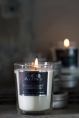 Alassis glass candle in No. 8 Blackcurrant & Rosewood