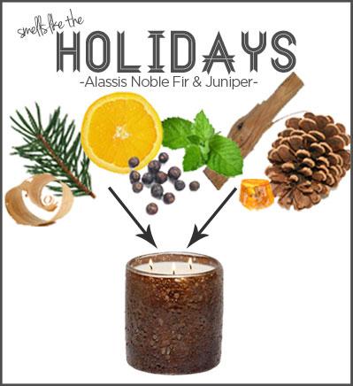 Alassis Noble Fir & Juniper smells like the holidays